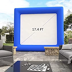 Benlet 17.4FT Airblown Outdoor Inflatable Movie Screen, Portable Backyard Theater Projection Screen