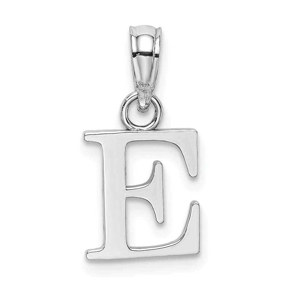 14k White Gold A Block Initial//High Polish 2of2
