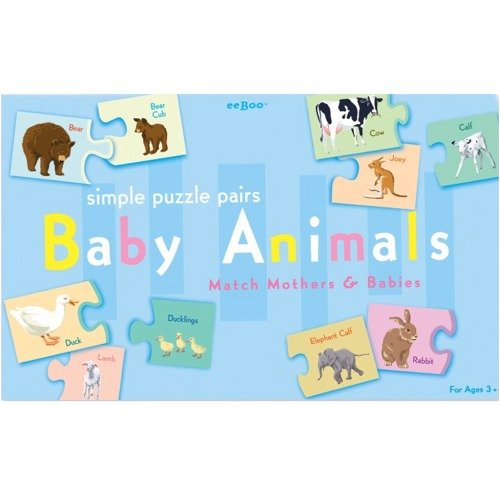 Eeboo Baby Animals Puzzle Pairs product image