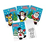 Fun Express 72 ~ Happy Holidays Coloring Books ~ 5' X 7' ~ 6 Pages Each