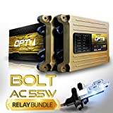 nissan frontier 2000 relay - OPT7 Bolt AC 55w Hi-Power 9004 Hi-Lo HID Kit - Relay Bundle - All Bulb Sizes and Colors - 2 Yr Warranty [6000K Lightning Blue Xenon Light]