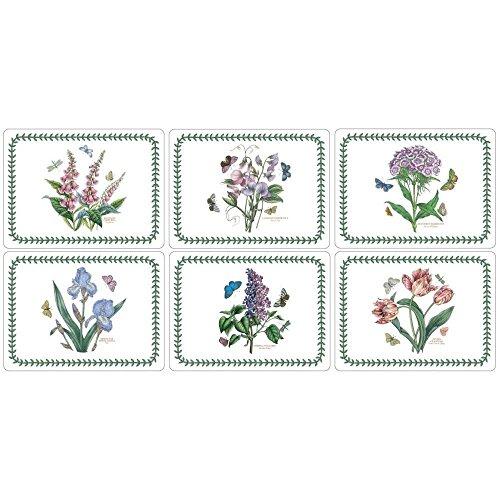 Portmeirion Botanic Garden - Rect Place Mats - Set of 6 (Pack of 4) by Botanic Garden