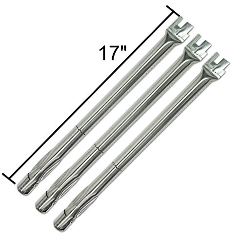 Premium Grill Parts Replacement Straight Stainless Steel Burner for BBQ Grillware, Home Depot, Ducane, Original Part, Lowes Model -