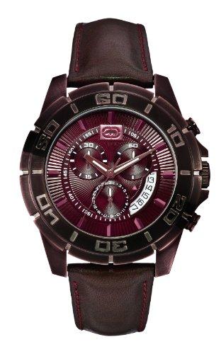 Marc Ecko Men's E16503G2 Brown Leather Strap Watch