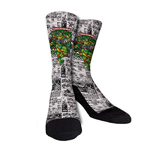 Just Sockz Ninja Turtles Socks Large ()