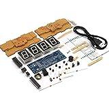 KKmoon 4-digit DIY Digital LED Clock Kit Light Control Temperature Display Transparent Case Blue