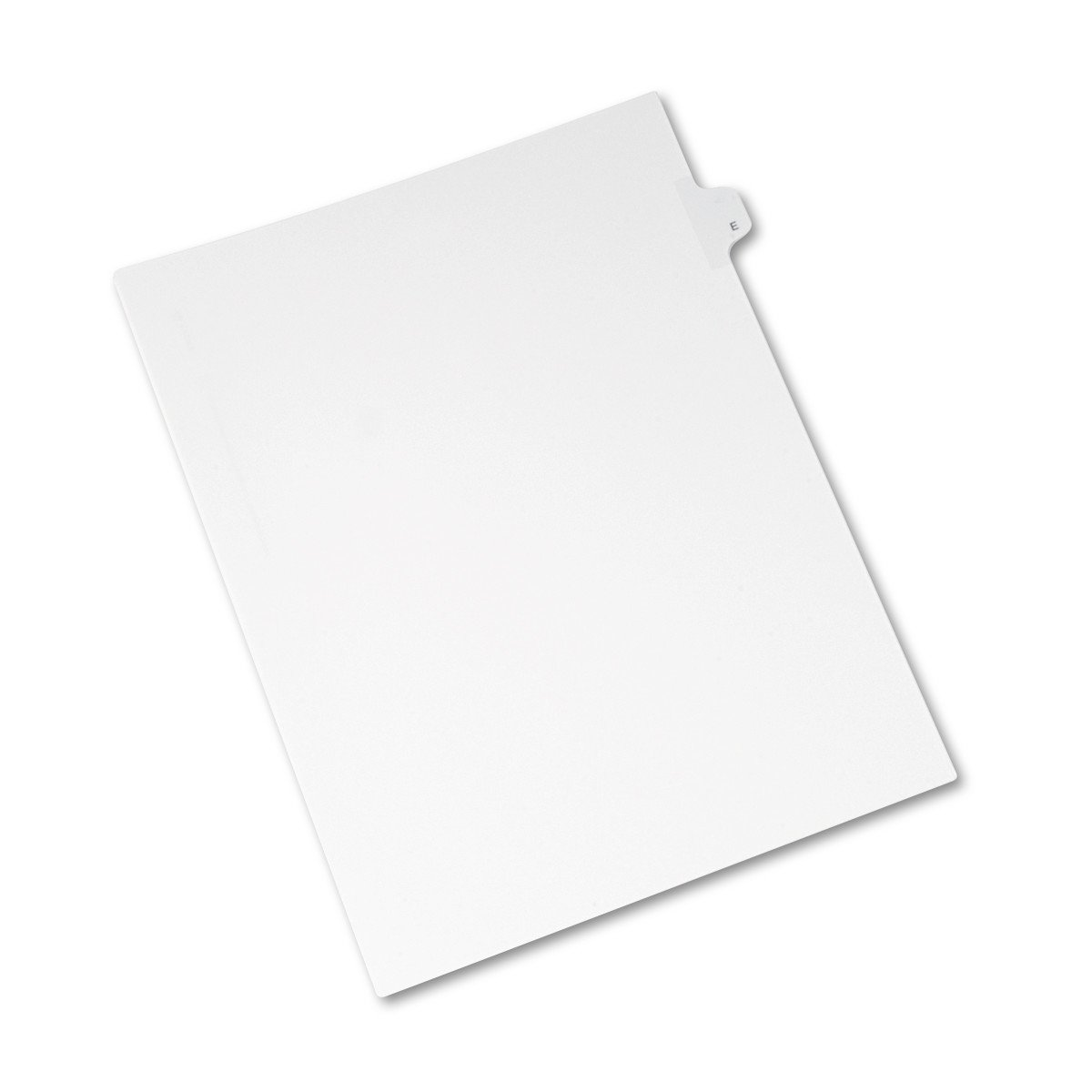 Avery Individual Legal Exhibit Dividers, Allstate Style, E, Side Tab, 8.5 x 11 inches, Pack of 25 (82167)
