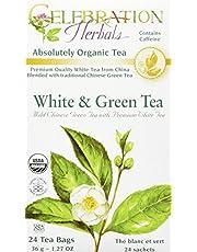 Celebration Herbals White and Green Tea Organic 24 Tea Bag, 36Gm