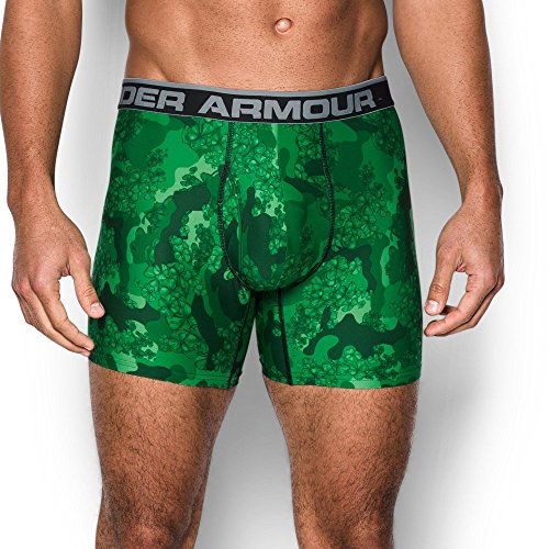 Under Armour Men's Original Series Printed Boxerjock, Forest Green/Steel, X-Large
