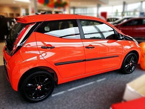 OPPL Zierleiste-Rammschutz Seitenleiste passend f/ür Toyota Aygo II HB//5 ab 2014
