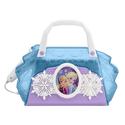 Disney Frozen Anna & Elsa Cool Tunes Sing Along Boombox With Microphone With Built In Tunes or Connect Your (Sing Along Microphone)