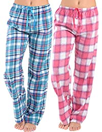 e386d69d60 Womens Super Soft Flannel Plaid Pajama Pants-2 Pack