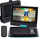 "SUNPIN 11"" Portable DVD Player with 9.5 inch HD Swivel Screen, Dual Earphone"