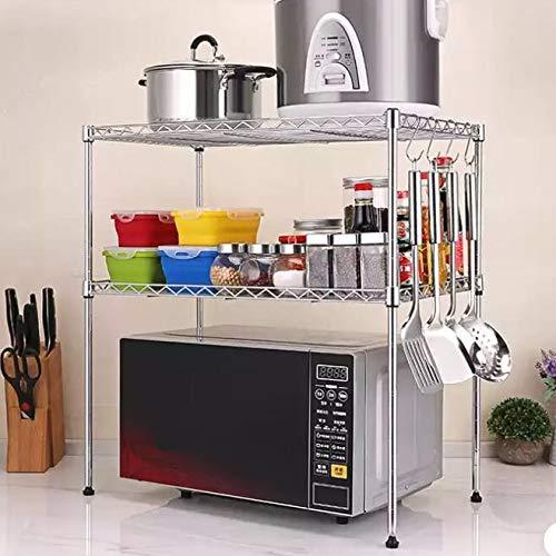 2-Tier Adjustable Microwave / Oven Rack Shelf