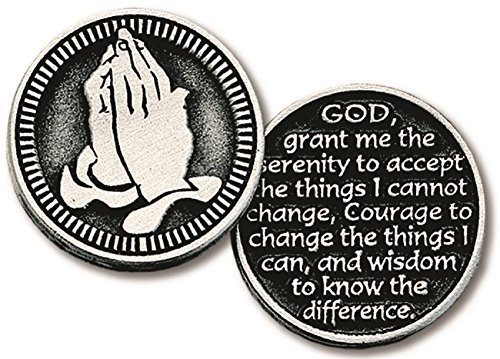 Inspirational Pocket Pewter Tokens 12 Pack Double Sided (Serenity Prayer)