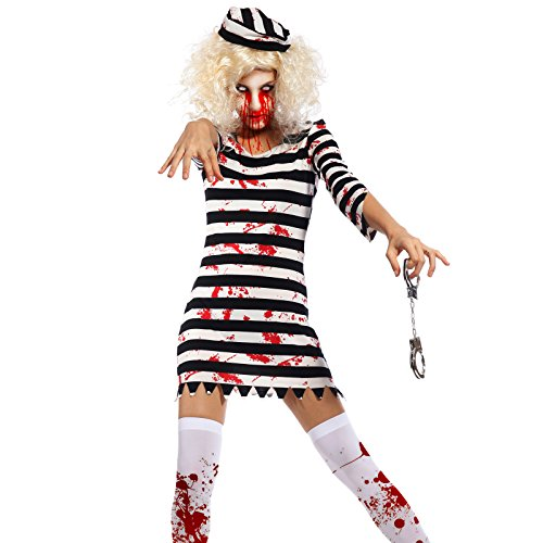 Adult Ladies Horror Zombie Halloween Costume Hen Night Party Fancy Dress Outfit (Sexy Zombie Nurse Costume)