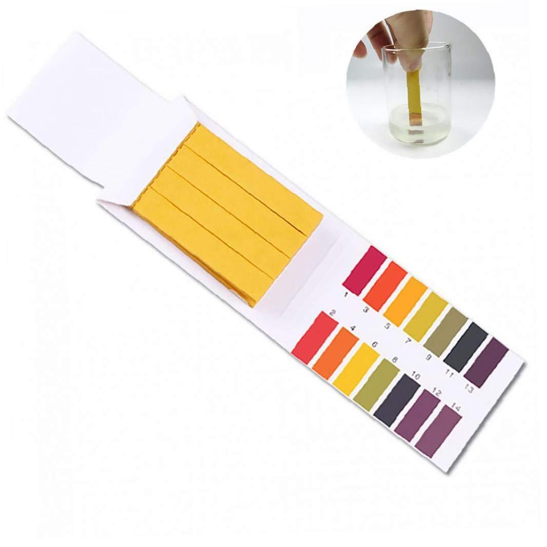 80pcs PH Lackmuspapier 14.01 Alkaline Acid Test Papier Tragbarer Wasser Lackmus-Test-Kit 1pack