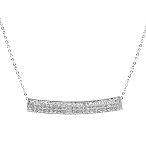 Amazon Com Adabele Sterling Silver Necklace 16 Tube Pendant