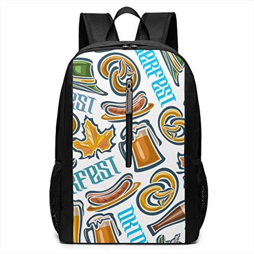 Glovesdkhh Oktoberfest Travel Backpack Stylish Student Backpack School Backpack for Women&Men