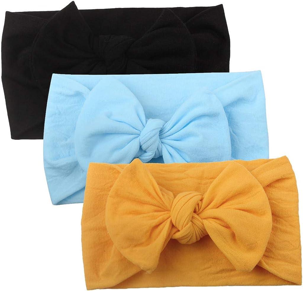 3 Pcs D Huhu833 Baby Stirnb/änder Cute Baby Kleinkind Infant Circle Stirnband Stretch Haarband Headwear