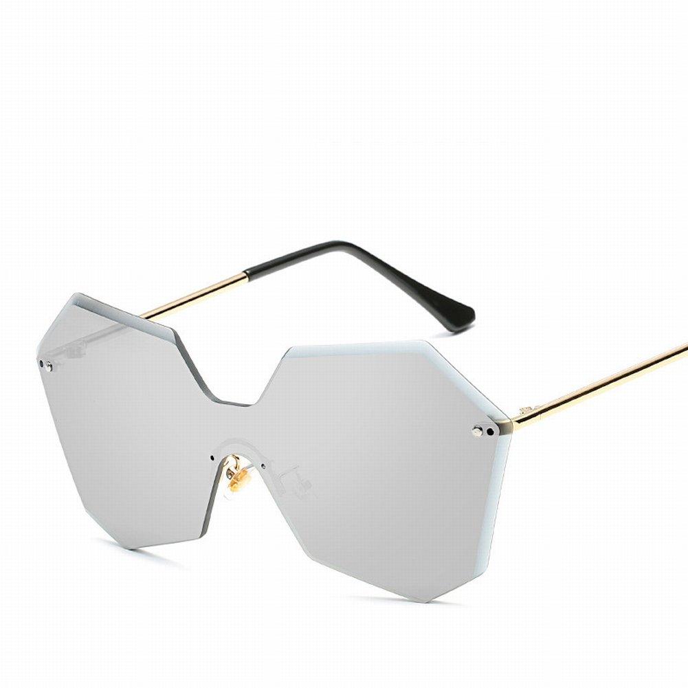 Persönlichkeit Retro Keine Rahmen Sonnenbrille Männer und Frauen Universelle Sonnenbrille , Transparente Linsec7