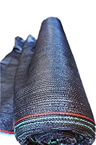 Shans 50% Uv 6.5ft X 20ft Black Shade Cloth