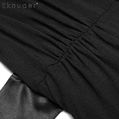 Soft Women Casual Robe Regular Fit Patchwork Belt Comfortable Sleepwear Bathroom Spa Robe Robe