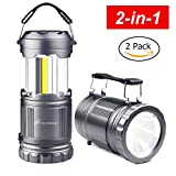 LED COB Camping Flashlight Lanterns Combo - Moobibear 2-In-1 Portable Tac Lantern Flashlights...