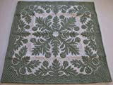 Hawaiian Quilt, Wall Hanging, Baby Crib Blanket, 100% Hand Quilted and 100% Hand Appliquéd 42''