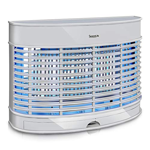 SereneLife Electric Bug Zapper Indoor Home - Anti Flying Insect Killer Lamp Trap Uses Heavy Duty 56 Square Yard Coverage Electronic 2 20W UV Light Bulb Attractant to Lure Mosquito, Fly - AZPSLBZ12 (Best Anti Mosquito Lamp)
