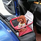 Peach Tree Pet Car Seat Carrier for Dog Cat, Lookout Booster Seat, Red&Grey Review