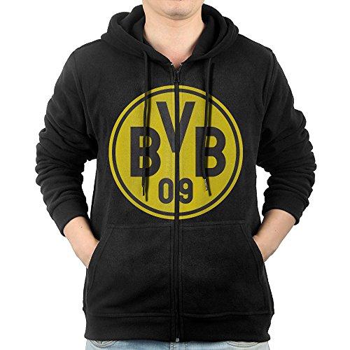 Men Borussia Dortmund BVB 09 Logo Hooded Sweatshirt Black