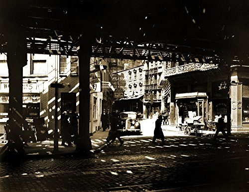 Bowery Street Nyc (Cats Paw Prints 1936 Doyers Street, The Bowery, NYC, NY Vintage Photograph 8.5