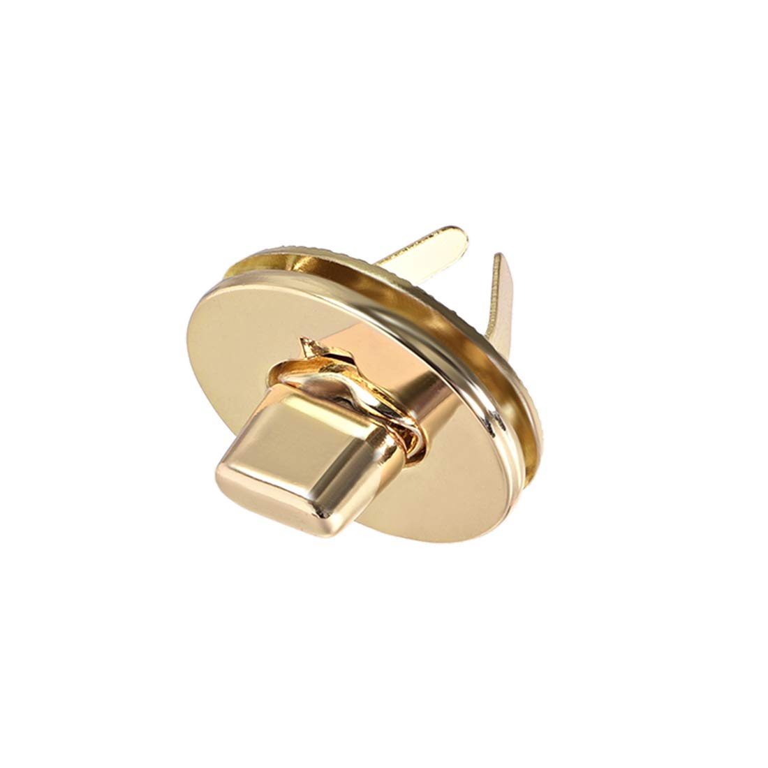 Brussed Brass uxcell 2 Sets Oval Purses Twist Lock 33mm X 19mm Clutches Closures for DIY Bag Making