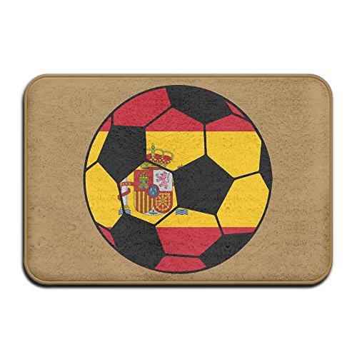 Spain Soccer Flag Antislip Outings Door Mats Standing Rug by Mat_Rug&