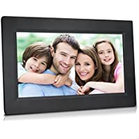 [Upgraded Version 3.0+] 10 inch WiFi Cloud Digital Photo Frame with Touch Panel, Free Cloud Storage, High-Resolution 1024x600 LED Display (Black) - Update & Share Your Photos Remotely