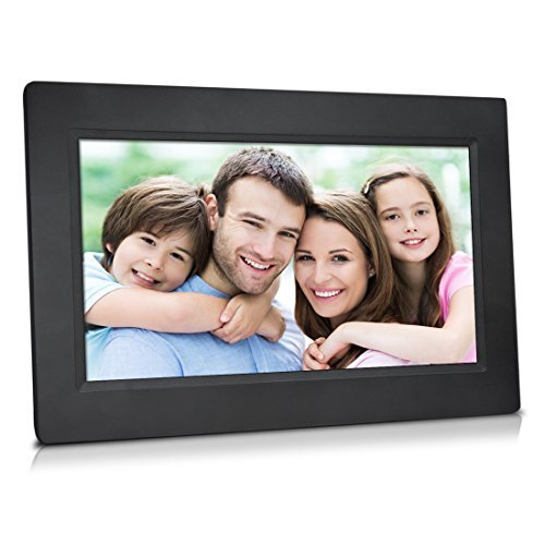 [Upgraded Version 3.0+] 10 inch WiFi Cloud Digital Photo Frame with Touch Panel, Free Cloud Storage, High-Resolution 1024x600 LED Display (Black) - Update & Share Your Photos Remotely by Sungale