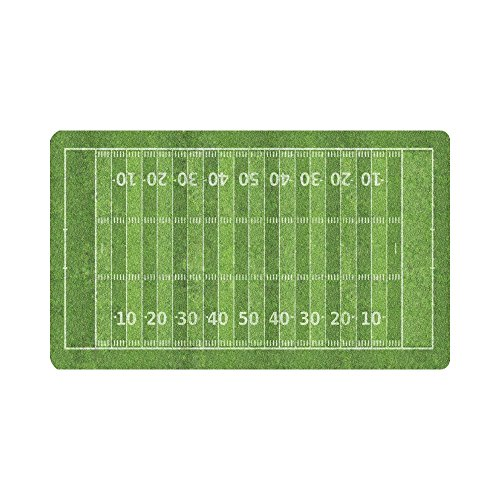 InterestPrint Sport Decor Funny American Football Field Doormat Anti-Slip Entrance Mat Floor Rug Indoor/Outdoor Door Mats Home Decor, Rubber Backing Large 30