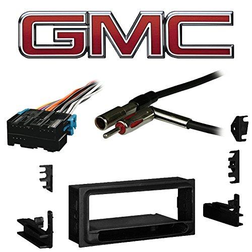 Fits GMC Safari Mini Van 1996-2005 Single DIN Harness Radio Install Dash Kit ()