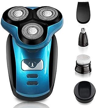 Lukaso afeitadora eléctrica hombre multifunción IPX7 impermeable ...