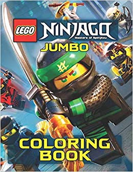 Amazon.com: LEGO NINJAGO JUMBO Coloring Book: 59 Exclusive ...