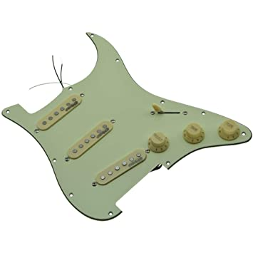 Amazon com: KAISH Mint Green Loaded Electric Guitar