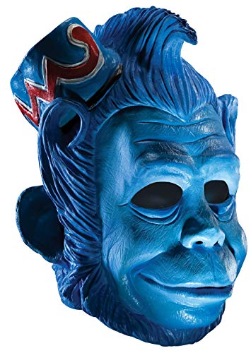 Wizard of Oz Deluxe Latex Mask, Flying Monkey, Blue, One Size -