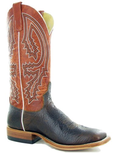 Anderson Bean S1105 Men's Square Toe Mike Tyson Bison Rust Lava Boots (11.5)
