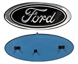 "2005-2014 Ford F150 Black Oval 9"" X 3.5"" Front Grille Replacement Badge Emblem Medallion Name Plate"