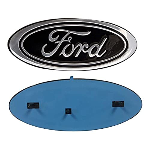 Ford logo amazon 2005 2014 ford f150 black oval 9 x 35 front grille replacement badge emblem medallion name plate voltagebd Choice Image