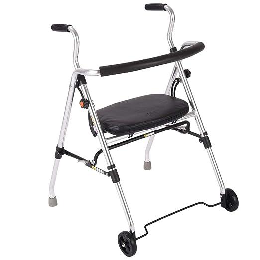 MyAou-Andadores Old Walker Trolley Cane Aluminio Ligero Sentado ...