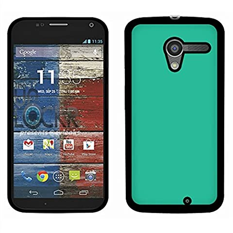 Motorola Moto X Phone XT1058 1st Gen 2013 Case, Fincibo (TM) Back Cover Slim Fit Hard Plastic Protector, Solid Uncommon Teal (Moto X 1st Gen Phone Covers)