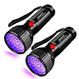 51 LED UV Flashlight Pet Urine Stain Detector 2 Pack - Morpilot Upgrade Best 395nm Ultraviolet Blacklight for Detect Bed Bug Dog Urine Stain Scorpion