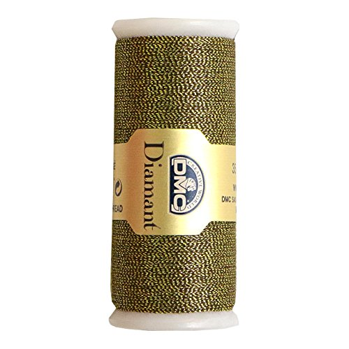 DMC Diamant Metallic Needlework Thread, 38.2-Yard, Gold and Black 011419